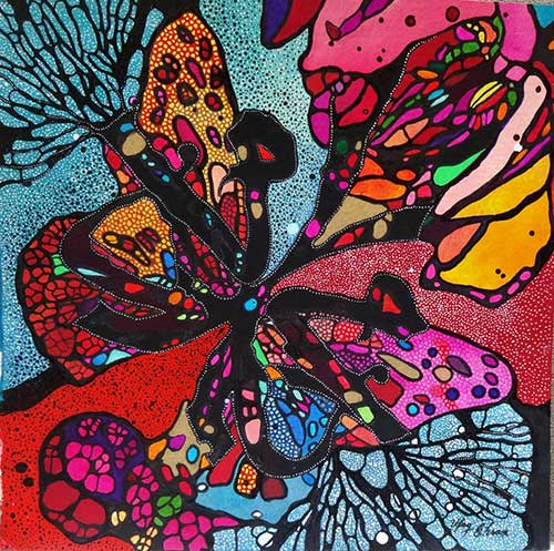 Butterfly1-12x12-inches-Mixed-media-on-paper